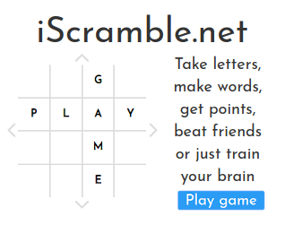 iScramble.net! (similar to scrabble)
